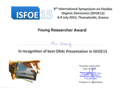ISFOE15 Young Researcher Award